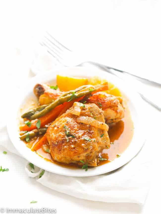 Braised chicken garlic thyme