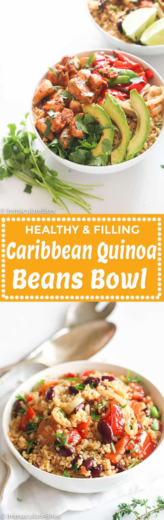 Caribbean Quinoa and Beans Bowl