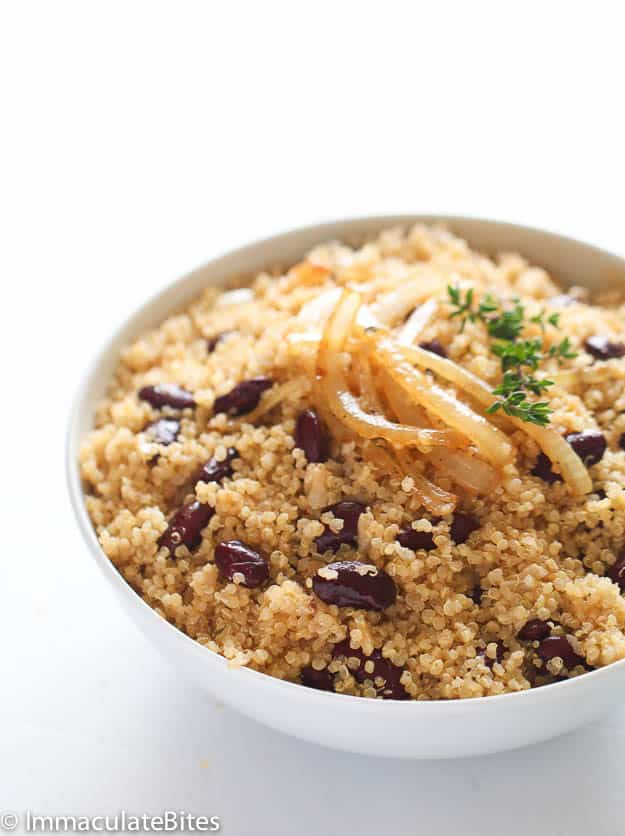 Caribbean Quinoa and beans