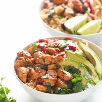Caribbean Quinoa and beans Bowl