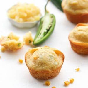 Pineapple Jalapeños cornbread muffin