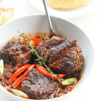 Jamaican Brown Beef Short Ribs Stew