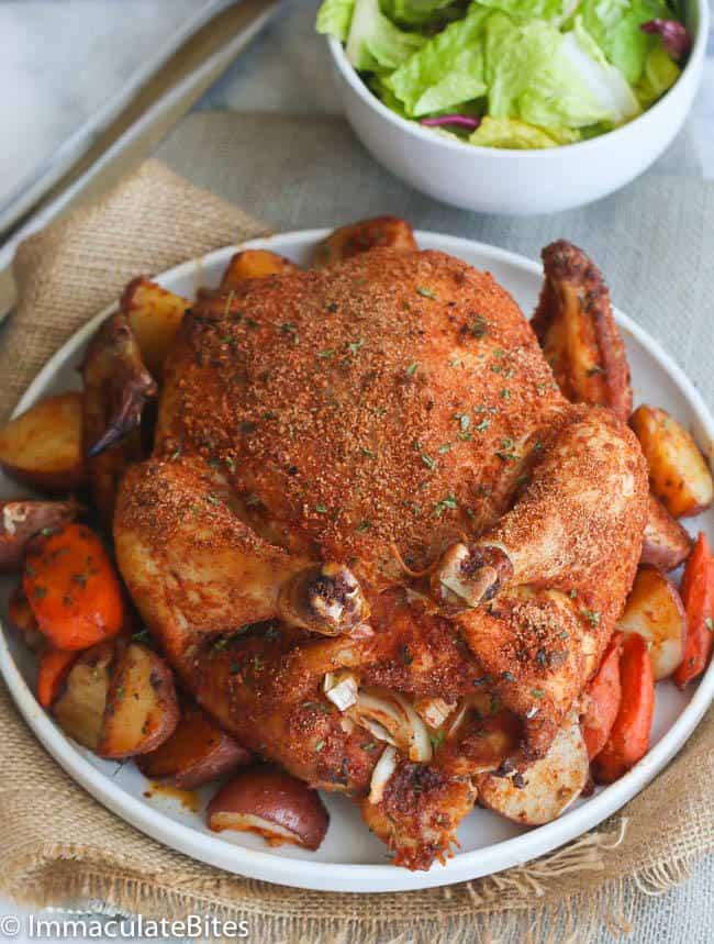 Cajun Whole Roast Chicken