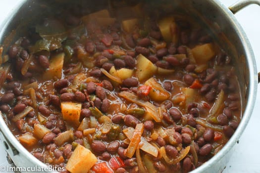 Puerto Rican Style beans - Immaculate Bites