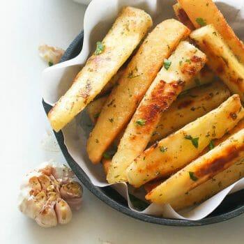 Yucca Fries & Roast Garlic  Aioli
