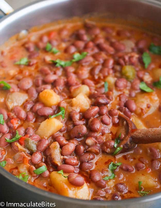 Puerto Rican Style beans – A hearty red beans simmered in an ...