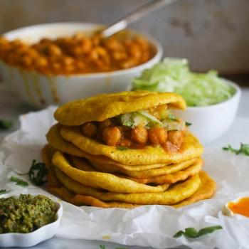 Caribbean vegan recipes doubles curry chickpeas and spicy flat bread forumfinder Choice Image