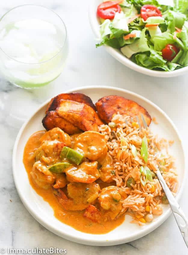 Jamaican Curry Shrimp - Immaculate Bites