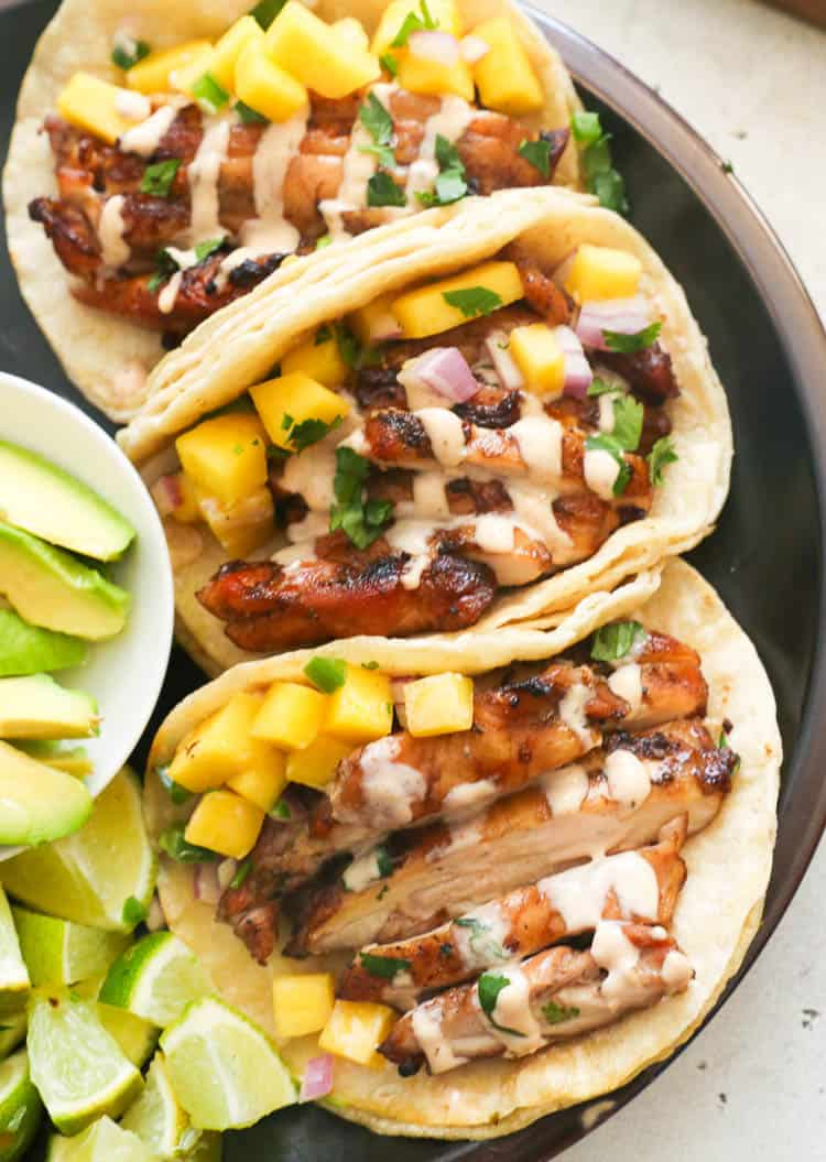 Tuesday: Grill Jerk Chicken Tacos