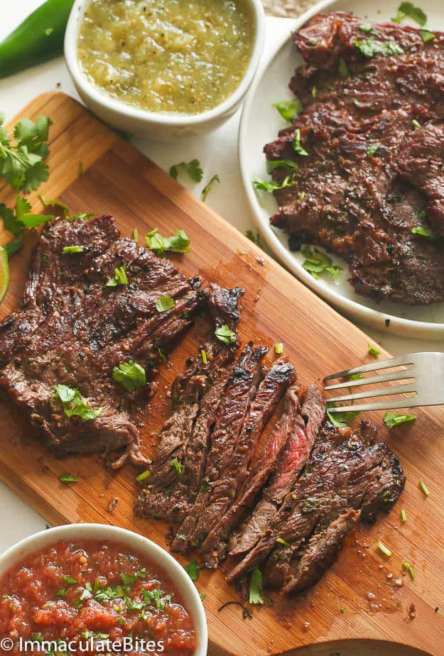 how to prepare skirt steak on stove top
