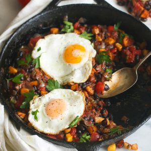 Hash Plantain and Egg