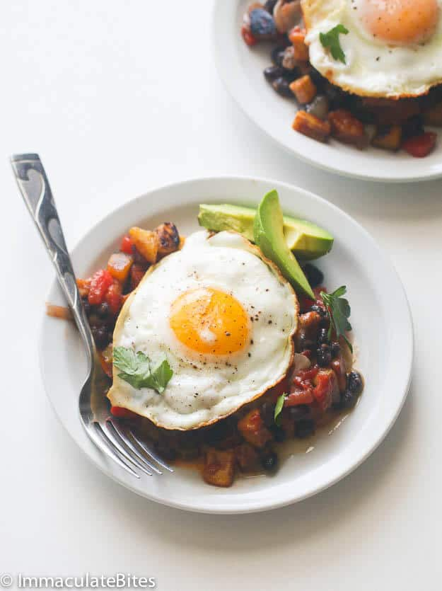 Sweet Plantain Hash & Eggs
