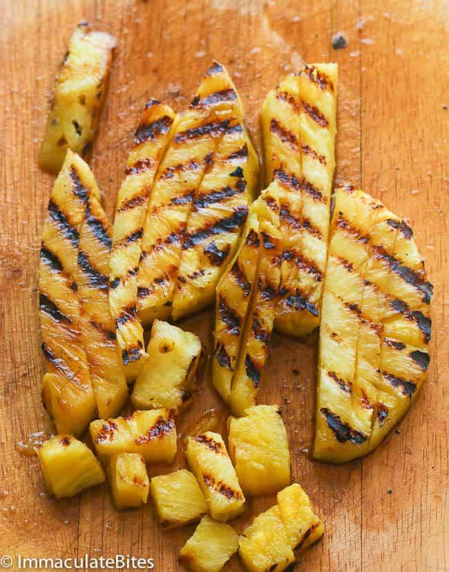 Grill Pineapple Black Bean Salsa