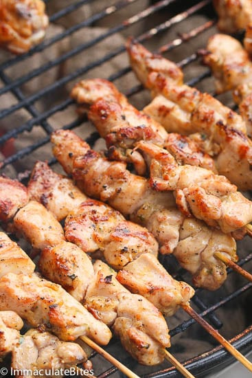 Peri Peri Marinated Chicken skewers - Immaculate Bites