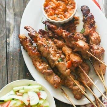 Peri Peri Marinated Chicken skewers