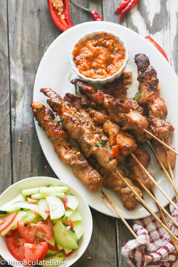Peri Peri Marinated Chicken Skewers