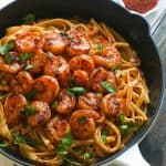 Blackened Shrimp and Pasta
