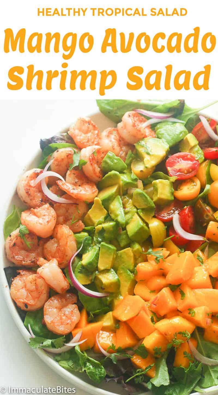 Mango Avocado Shrimp Salad Mango Dressing