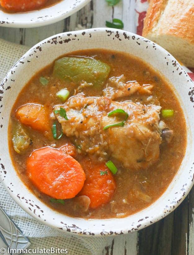 Jamaican Chicken and Pumpkin soup