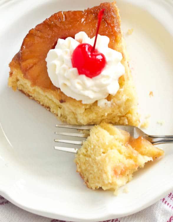 Pineapple Cake Slice