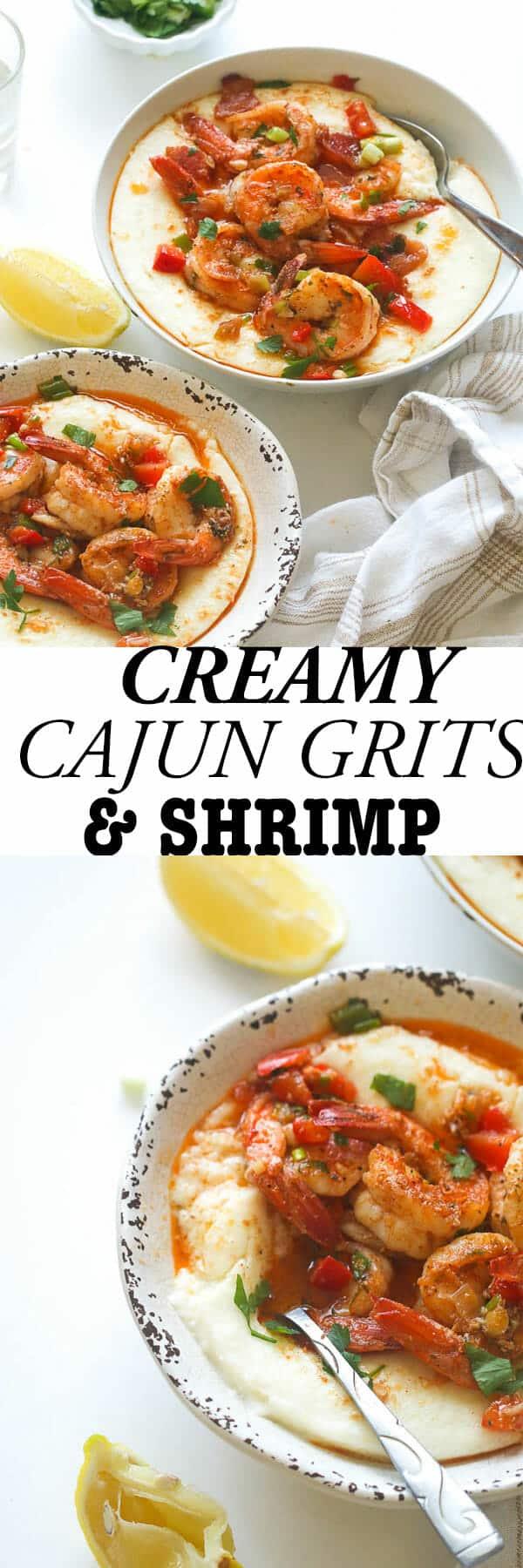 Creamy Cajun Grits & shrimp