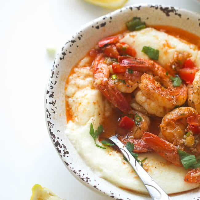 Creamy Cajun Shrimp and Grits