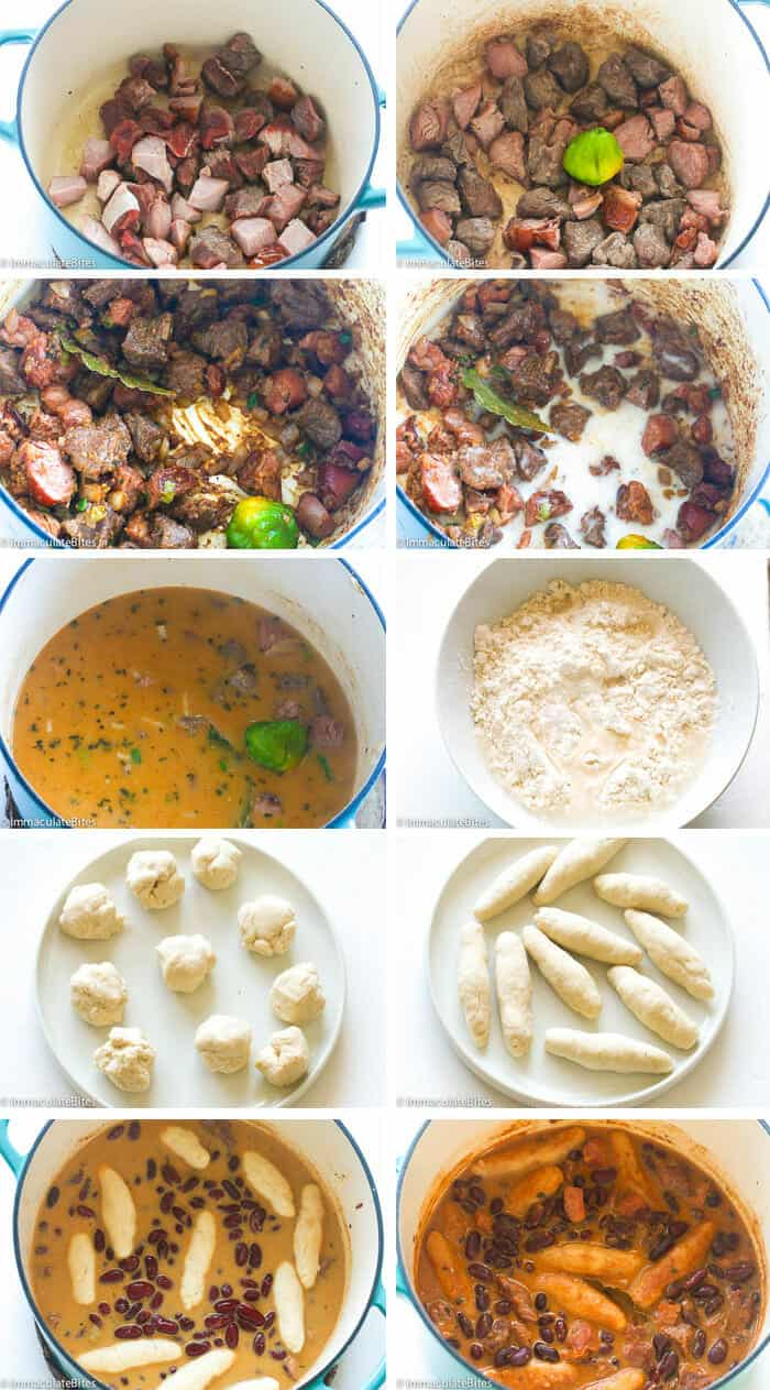 Jamaican Red Stewed Peas Collage
