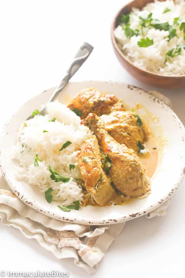 Whole Chicken Braised in Coconut mIlk