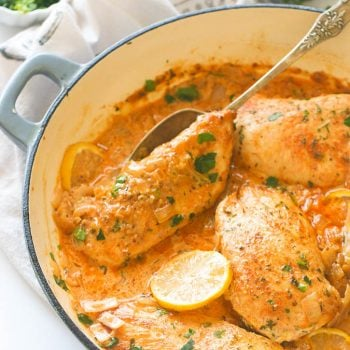 Creamy Lemon Garlic Boneless Chicken Breast