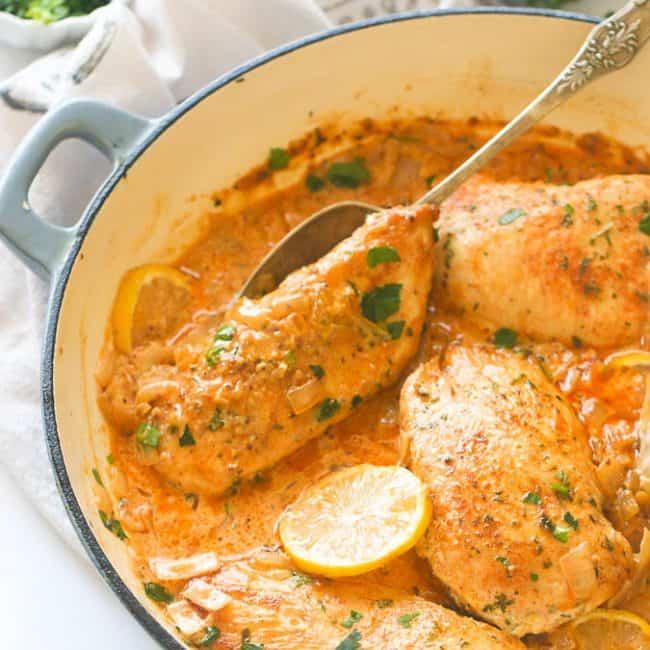 Creamy Lemon Garlic Chicken Breast