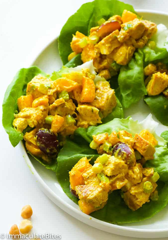 Curry Chicken Salad - Immaculate Bites