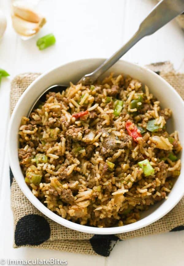 dirty rice recipe.2 - immaculatebites