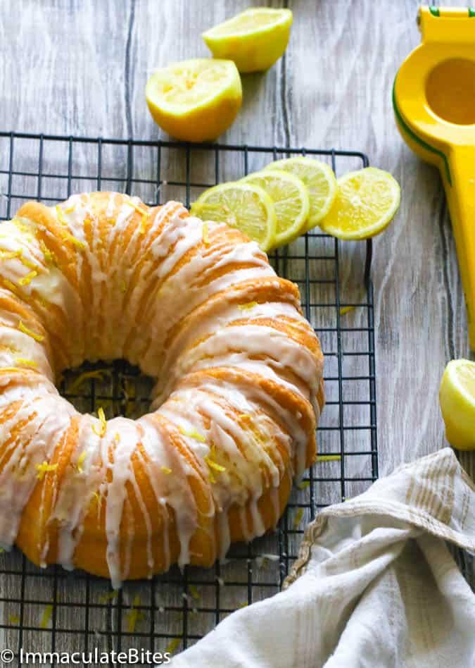 Lemon Sour Cream Pound Cake Immaculate Bites