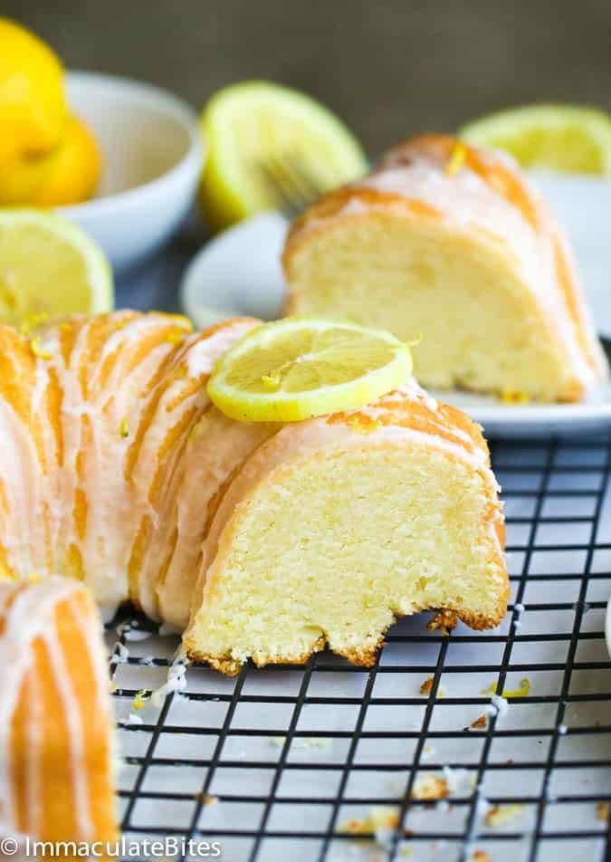 Easy Lemon Pound Cake With Sour Cream