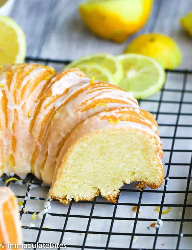 Sour cream lemon pound cake