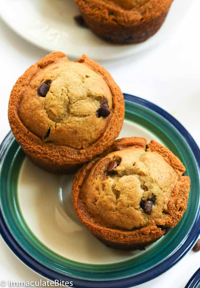 Muffins on a serving plate