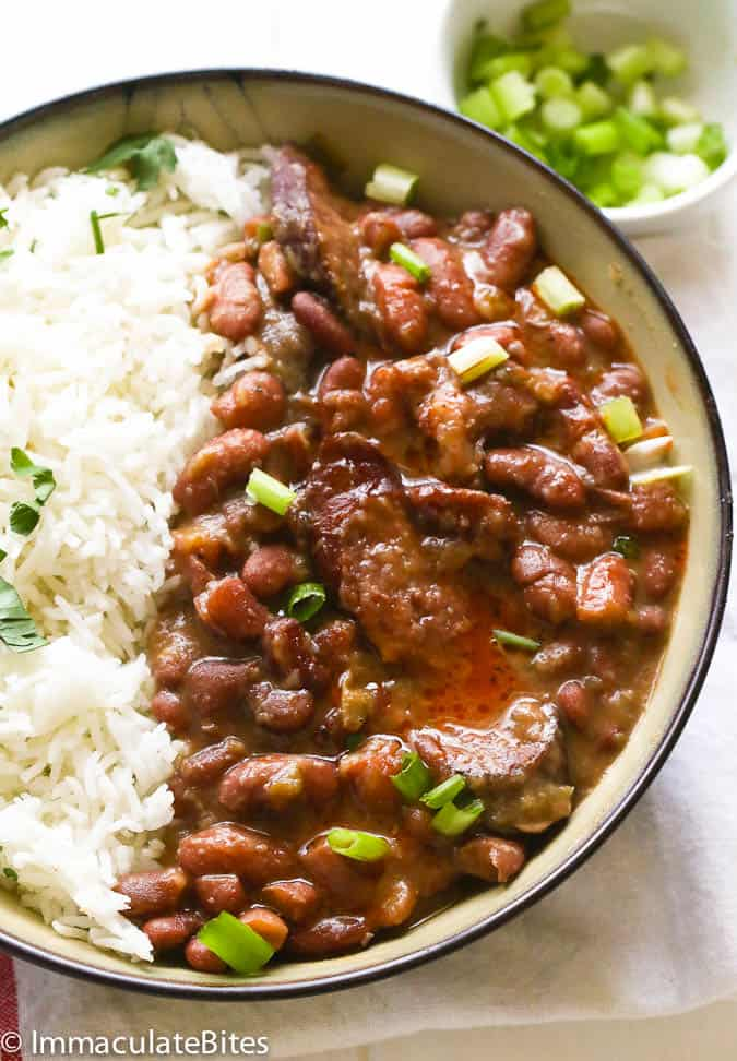 Red Beans And Rice Recipe Immaculate Bites