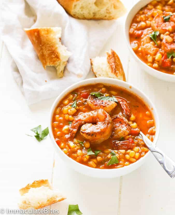 Cajun Corn Shrimp Soup