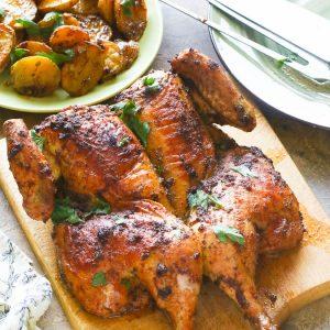 Blackened spatchcock chicken