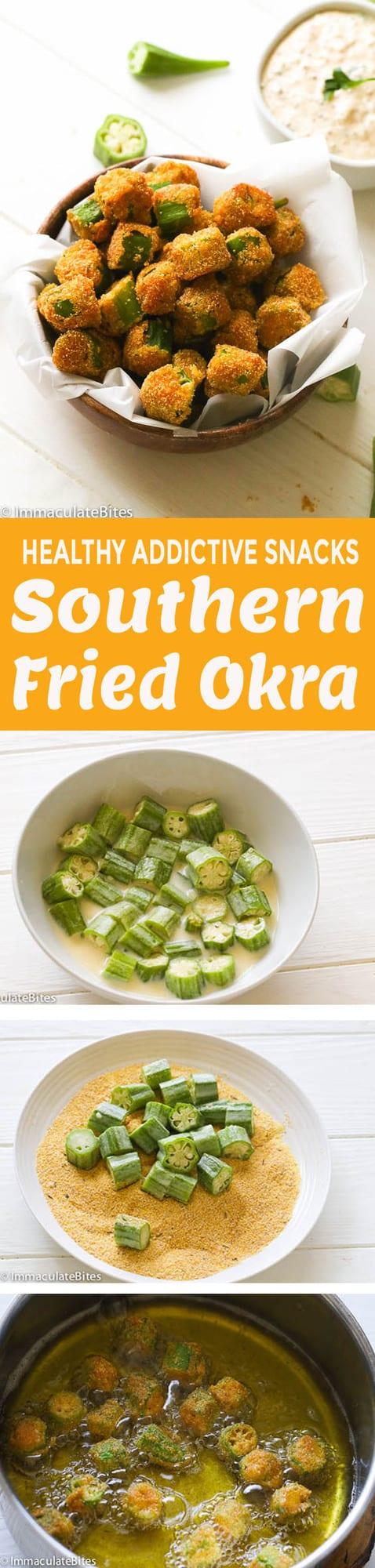 Fried Okra with Steps