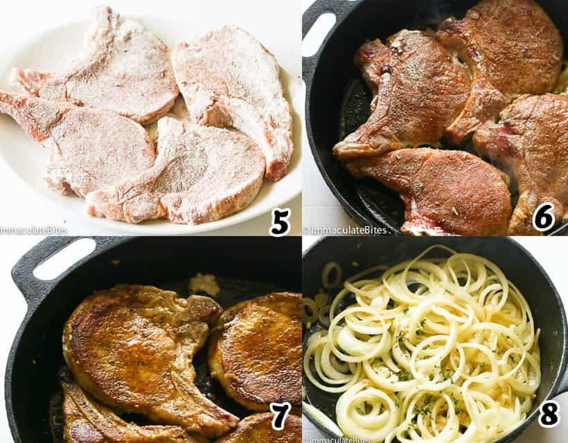 Frying the Pork Chops