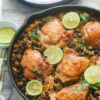 One Pot Cilantro Lime Chicken and Rice