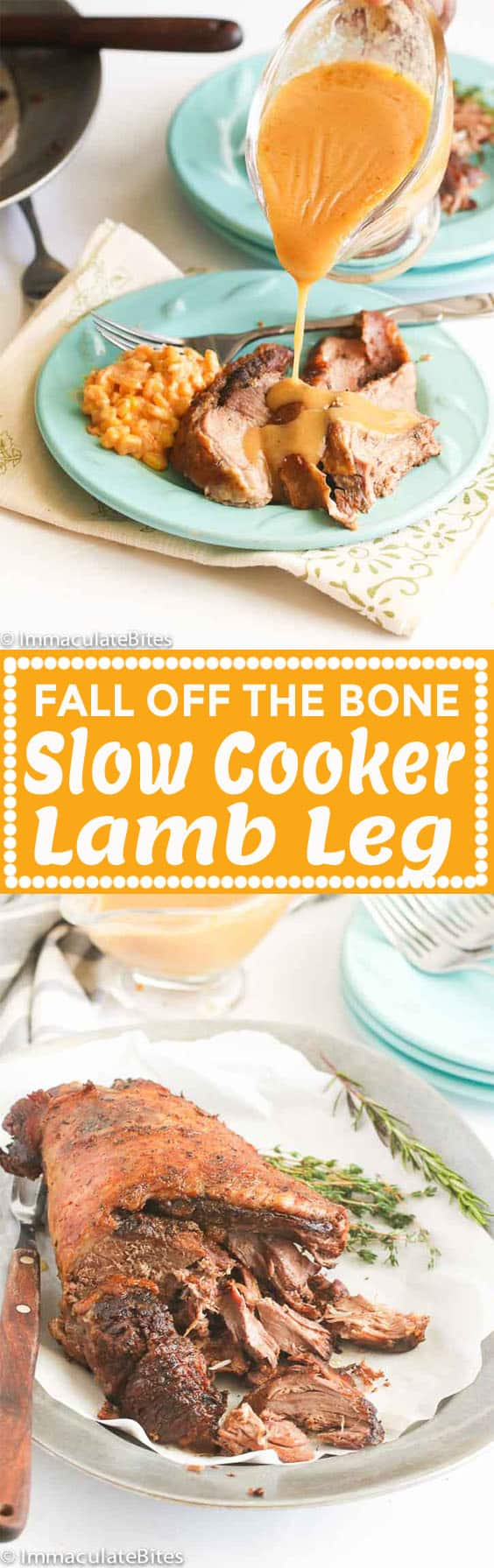 Slow Cooker Lamb Leg