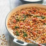 Southern black eyed peas in a pan