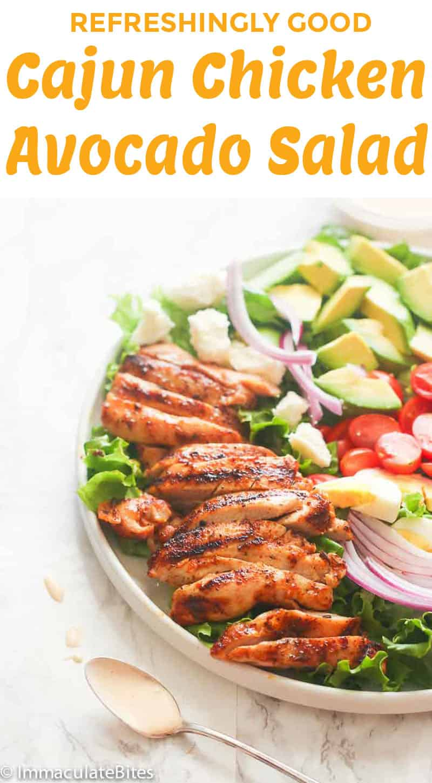 Cajun Chicken Avocado Salad