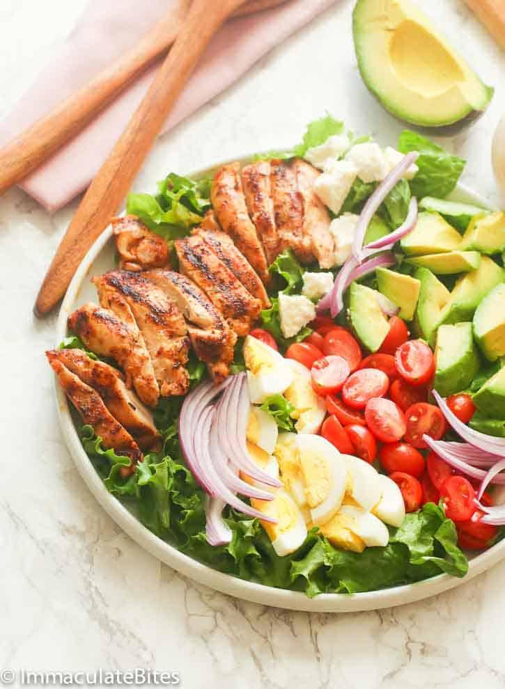 A Platter of Cajun Chicken Avocado Salad