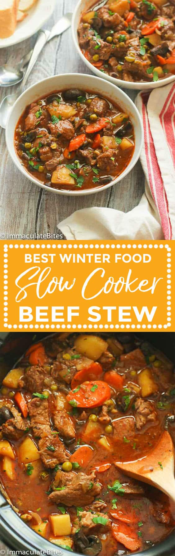 Slow Cooker Beef Stew Immaculate Bites