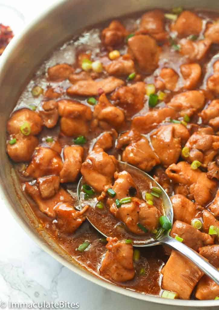 how to cook bourbon chicken