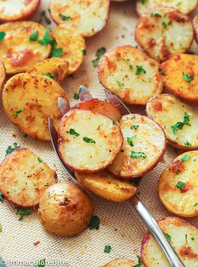 Oven Roasted Red Potatoes Immaculate Bites