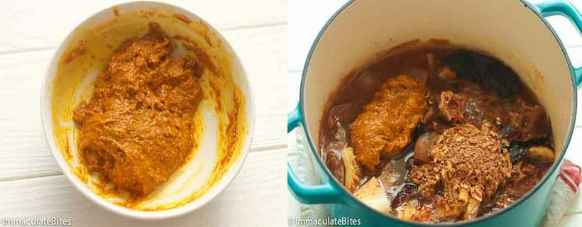 Ogbono soup and Pounded Yam.8